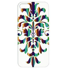 Damask Decorative Ornamental Apple Iphone 5 Hardshell Case With Stand