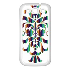 Damask Decorative Ornamental Samsung Galaxy S3 Back Case (White)