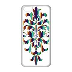Damask Decorative Ornamental Apple iPhone 5C Seamless Case (White)