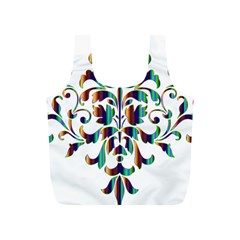 Damask Decorative Ornamental Full Print Recycle Bags (S)
