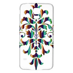 Damask Decorative Ornamental Samsung Galaxy S5 Back Case (white)