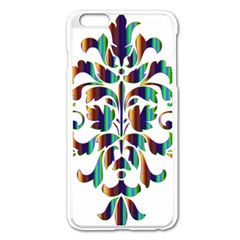 Damask Decorative Ornamental Apple iPhone 6 Plus/6S Plus Enamel White Case