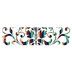 Damask Decorative Ornamental Satin Scarf (Oblong)