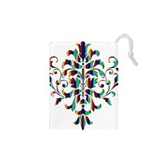 Damask Decorative Ornamental Drawstring Pouches (XS)