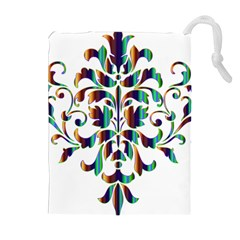 Damask Decorative Ornamental Drawstring Pouches (extra Large)