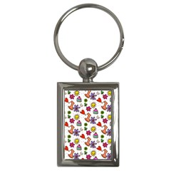 Doodle Pattern Key Chains (Rectangle)