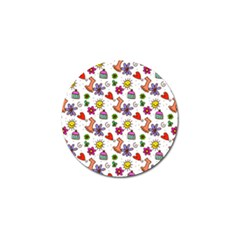 Doodle Pattern Golf Ball Marker (10 pack)