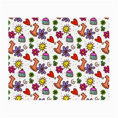 Doodle Pattern Small Glasses Cloth