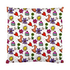 Doodle Pattern Standard Cushion Case (One Side)
