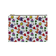 Doodle Pattern Cosmetic Bag (Medium)