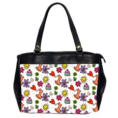 Doodle Pattern Office Handbags (2 Sides)