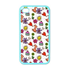Doodle Pattern Apple iPhone 4 Case (Color)