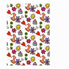 Doodle Pattern Small Garden Flag (Two Sides)