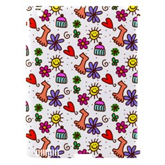 Doodle Pattern Apple iPad 3/4 Hardshell Case (Compatible with Smart Cover)