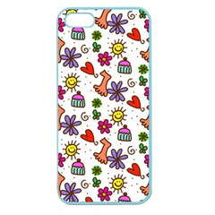 Doodle Pattern Apple Seamless Iphone 5 Case (color)