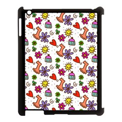 Doodle Pattern Apple Ipad 3/4 Case (black)