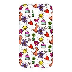 Doodle Pattern Samsung Galaxy S4 I9500/i9505 Hardshell Case