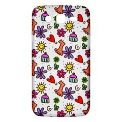 Doodle Pattern Samsung Galaxy Mega 5.8 I9152 Hardshell Case