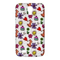 Doodle Pattern Samsung Galaxy Mega 6.3  I9200 Hardshell Case