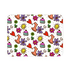 Doodle Pattern Double Sided Flano Blanket (mini)