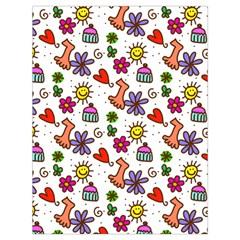 Doodle Pattern Drawstring Bag (Large)