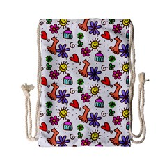 Doodle Pattern Drawstring Bag (Small)