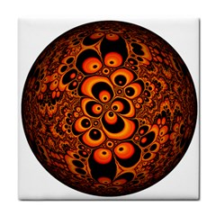 Fractals Ball About Abstract Tile Coasters