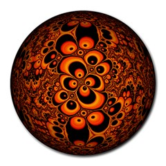Fractals Ball About Abstract Round Mousepads