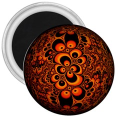 Fractals Ball About Abstract 3  Magnets