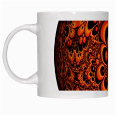 Fractals Ball About Abstract White Mugs