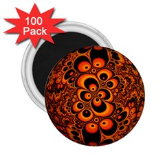 Fractals Ball About Abstract 2.25  Magnets (100 pack)