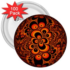 Fractals Ball About Abstract 3  Buttons (100 pack)