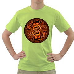 Fractals Ball About Abstract Green T-Shirt