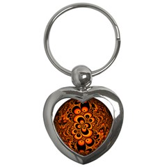 Fractals Ball About Abstract Key Chains (Heart)