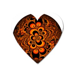 Fractals Ball About Abstract Heart Magnet