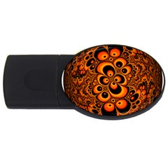 Fractals Ball About Abstract USB Flash Drive Oval (1 GB)