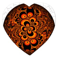 Fractals Ball About Abstract Jigsaw Puzzle (heart)