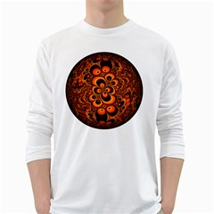 Fractals Ball About Abstract White Long Sleeve T Shirts