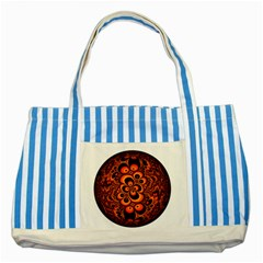 Fractals Ball About Abstract Striped Blue Tote Bag