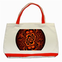 Fractals Ball About Abstract Classic Tote Bag (Red)
