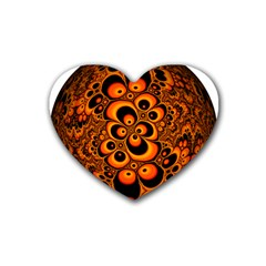 Fractals Ball About Abstract Rubber Coaster (Heart)
