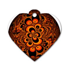 Fractals Ball About Abstract Dog Tag Heart (One Side)