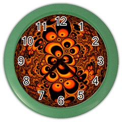 Fractals Ball About Abstract Color Wall Clocks