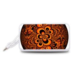 Fractals Ball About Abstract Portable Speaker (White)