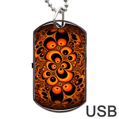 Fractals Ball About Abstract Dog Tag USB Flash (Two Sides)