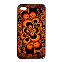Fractals Ball About Abstract Apple iPhone 4/4s Seamless Case (Black)