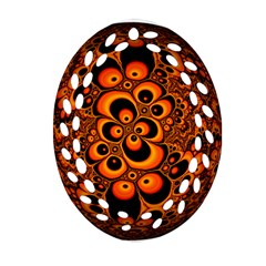 Fractals Ball About Abstract Oval Filigree Ornament (Two Sides)