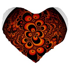 Fractals Ball About Abstract Large 19  Premium Heart Shape Cushions