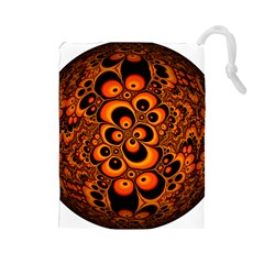 Fractals Ball About Abstract Drawstring Pouches (Large)