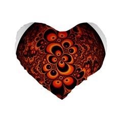 Fractals Ball About Abstract Standard 16  Premium Flano Heart Shape Cushions